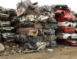 Some of the cars crushed and baled at Farrows Swinton.Nigel Holland.